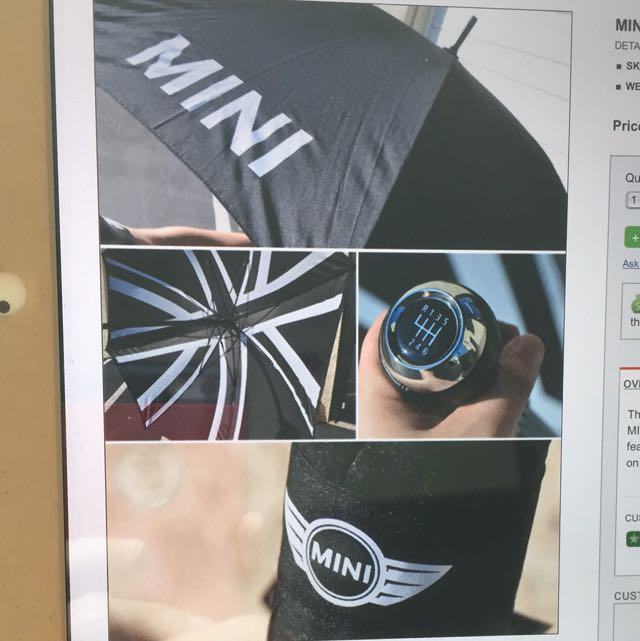 Coolest Brand New Original Mini Cooper Umbrella That Comes With A Gear Shift Head Definite Turner Electronics On Carou