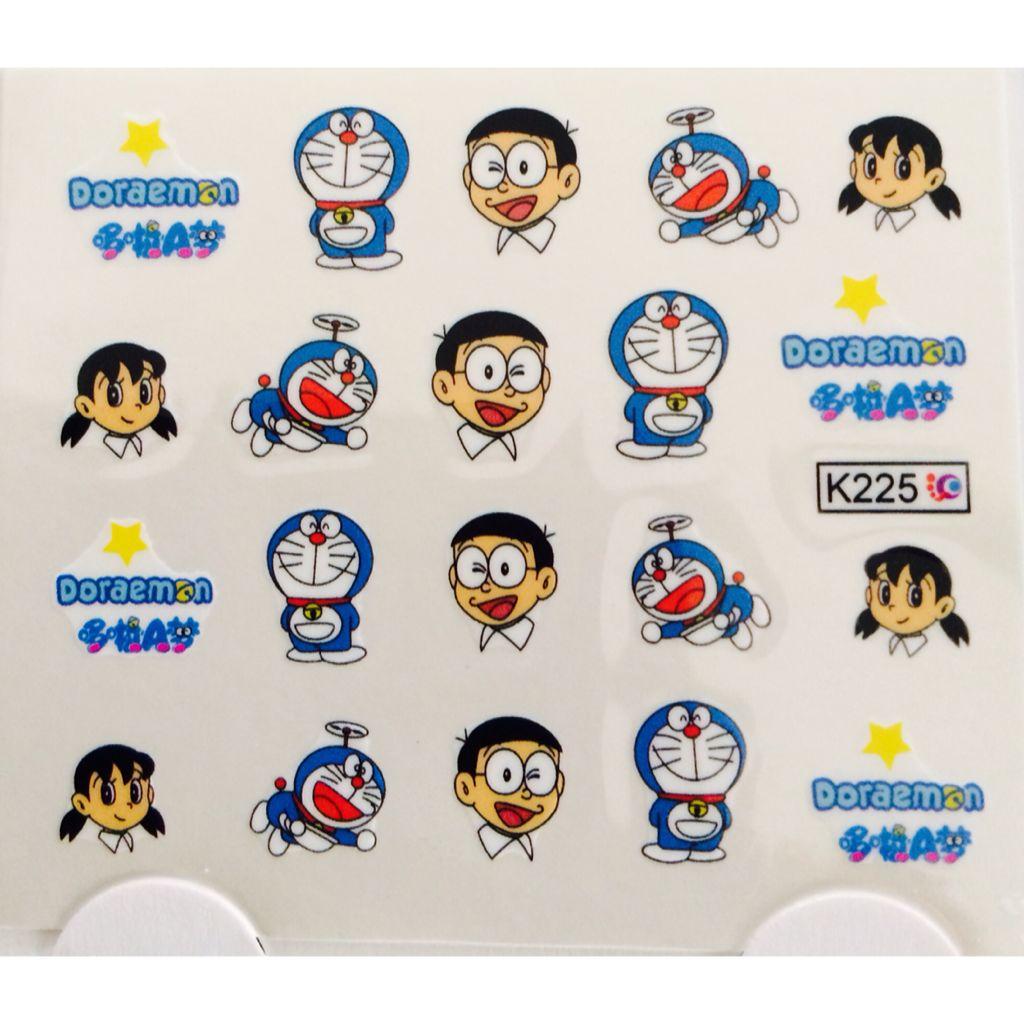 Doraemon Nail Art Sticker Water Decals Womens Fashion On Carousell