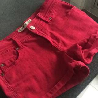Cotton On Red Shorts