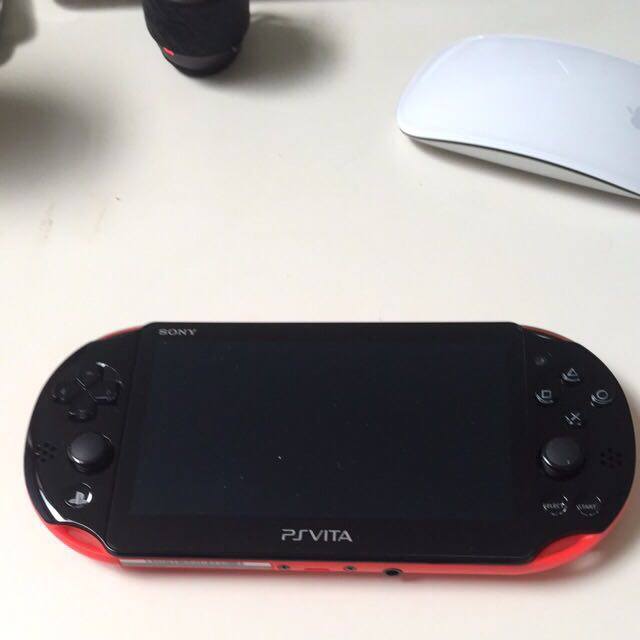 Like New Psvita New Verion Black And Red