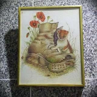 Original Watercolour Painting In Gold Frame (Signed And Framed)