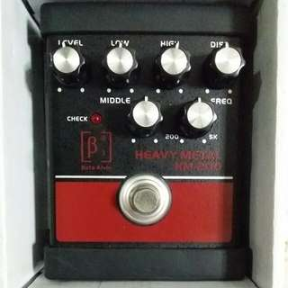 Beta Aivin Heavy Metal Distortion HM-200 Effect Pedal