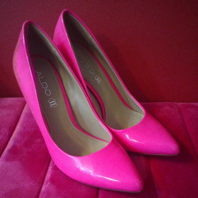 33ae2e50cea3 FinalReduce 29!~ALDO Hot Pink Genuine Leather Stiletto Heels Size 39 ...