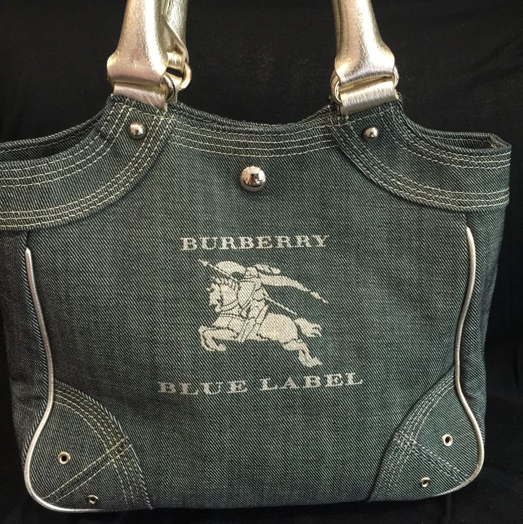 a68f6e5d5ecd Pre Loved Authentic Burberry Blue Label Denim Tote Bag From Japan ...