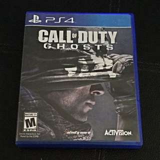Call Of Duty Ghost For PS 4