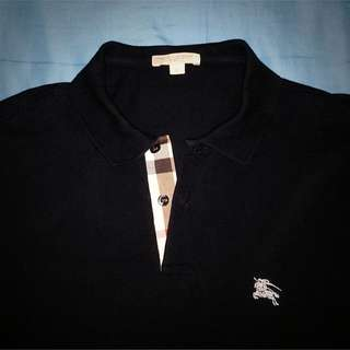 Burberry Polo Tee (Size S, Navy Blue) Price Reduce❗️