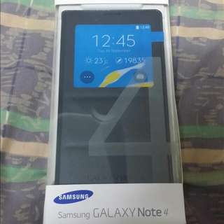 Samsung Galaxy Note 4 s view cover Original Brand New Sealed. Black Colour.