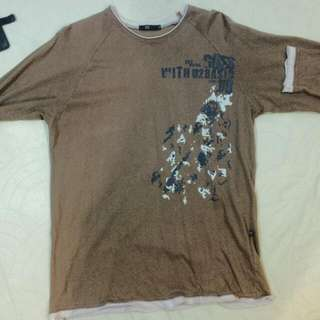 Brown long sleeve shirt size M