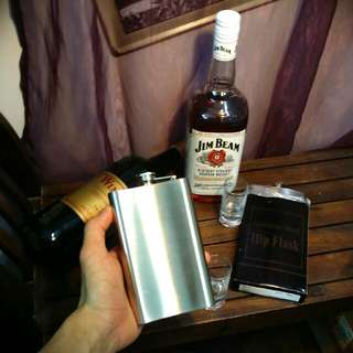 Whiskey Flask (Stainless Steel 10oz Classic Hip Flask For Liquer Whiskey And Wine, Brand New In Box)