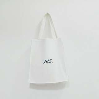 *Singapore National Museum Off White Yes No Tote Bag