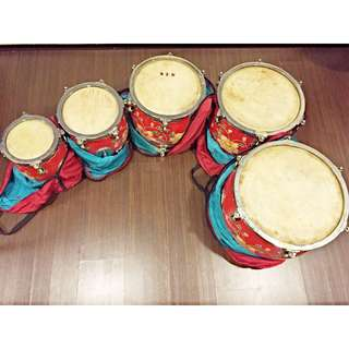 2nd Hand Chinese Drum Set (排鼓)