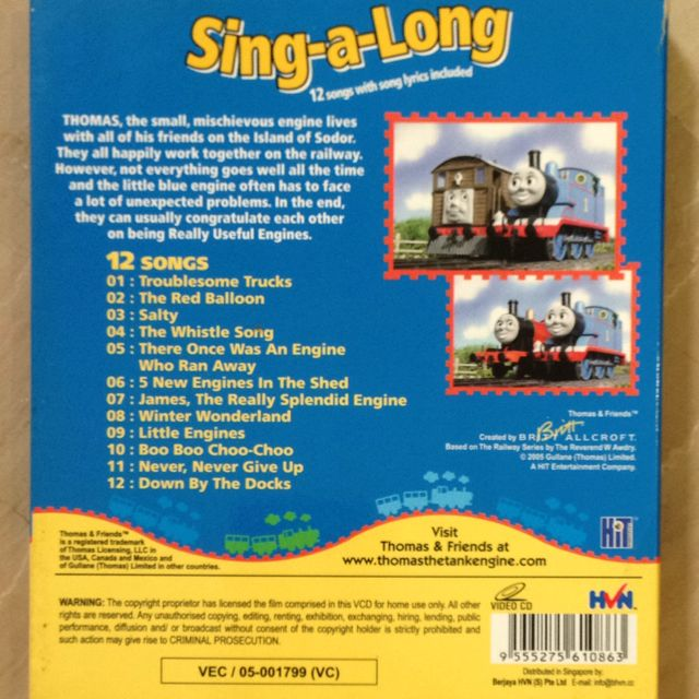 Thomas And Friends Sing-along VCD, Babies & Kids on Carousell
