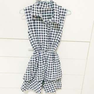 Blue Checkered Dress
