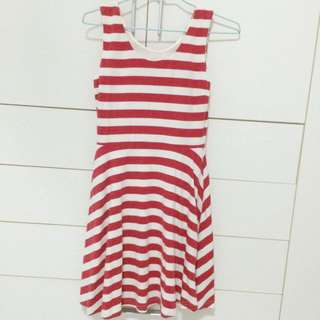 Red Stripe Dress