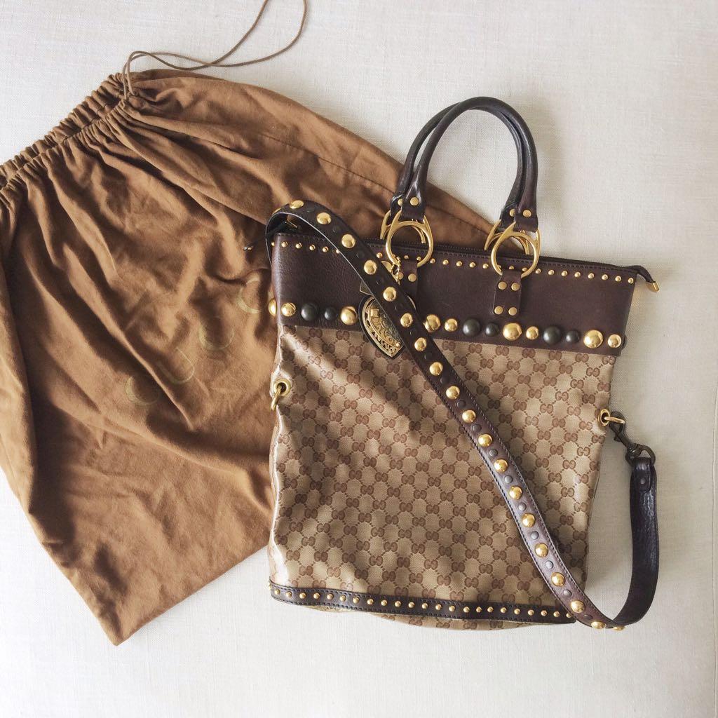 bfaf83e980ce GUCCI Babouska Large Tote Bag, Luxury on Carousell