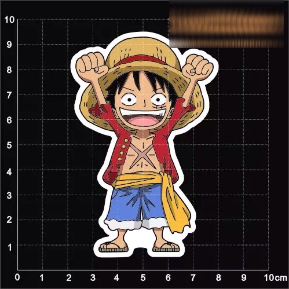 Luffy one piece sticker cars on carousell