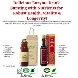 Delicious Enzyme Drink Bursting with Nutrients for Robust Health, Vitality & Longevity!
