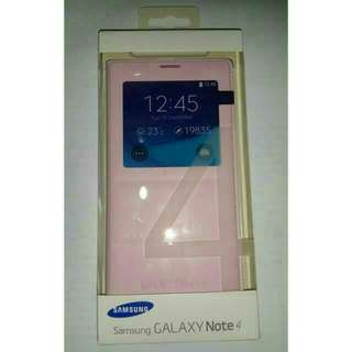 Samsung Note 4 S View Cover Pink