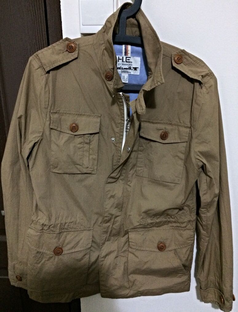 Clearance H E Mango Men S Lightweight Safari Jacket Men S Fashion