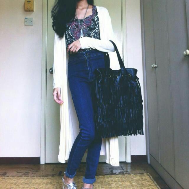 Long Outwear / Long Cardigan Beige Colour