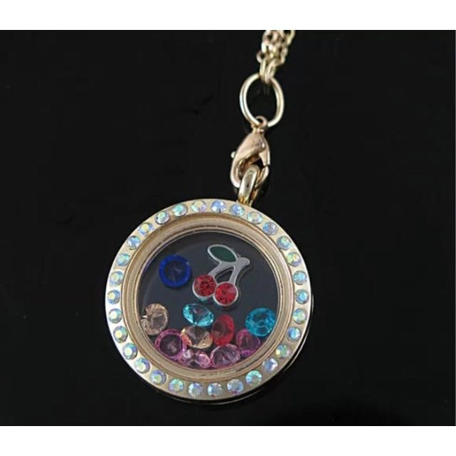 virtual locket necklace library floating customized lockets collections of pointe sandi