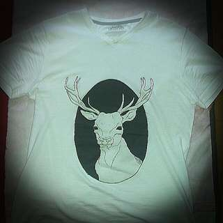 "Limited Edition Hand Printed Designer T-shirt Entitled ""The Stag"""