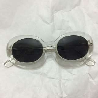 Clear Perspex Oval Sunglasses