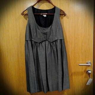 ZARA skater dress with attached vest
