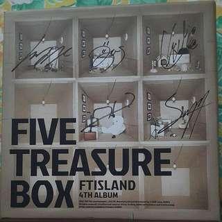 Autographed / Signed F.T. Island - Five Treasure Box album