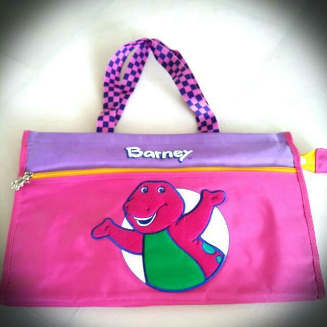 barney bag holder babies kids on carousell