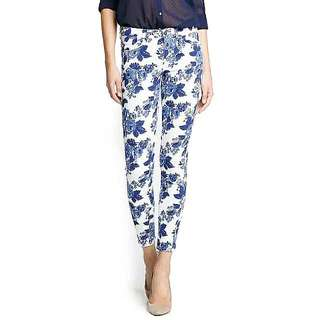 Preloved Mango MNG Floral Print Skinny Jeans