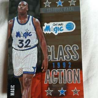 Shaquille O'neal Class Of Action 1992 Card