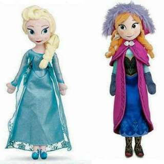 ab56e569b Frozen Anna and Elsa Soft Toy Free Shipping Within Malaysia