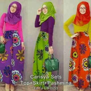 Carisya Set (TOP + SKIRT + SHAWL)