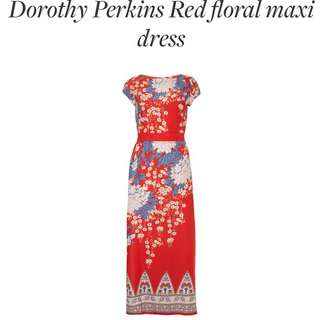 Dorothy Perkins Red Floral Maxi Dress