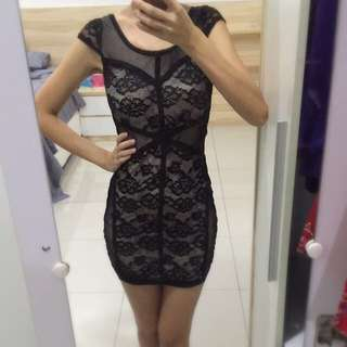 BN H&M Black Lace Dress
