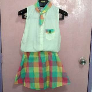 <Reserved> School Uniform-like Checkered Set