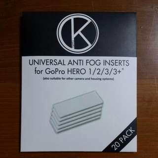 20-Pack Anti Fog Inserts For GoPro Cameras And Other Underwater Camera Housing