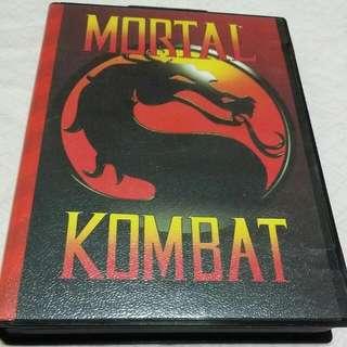 mortal kombat sega mega drive gaming cartridge