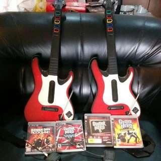 PS3 Guitar Hero Set