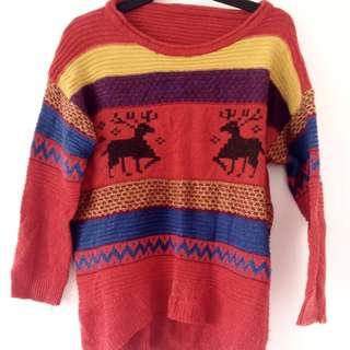 Aztec Reindeer Jumper