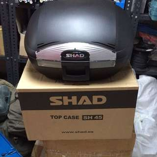 Brand New SHAD Top Case SH45  And New Givi Rack For Super 4 Revo 2013