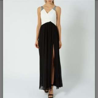 BN NEW LOOK Monochrome Embellished Maxi Dress