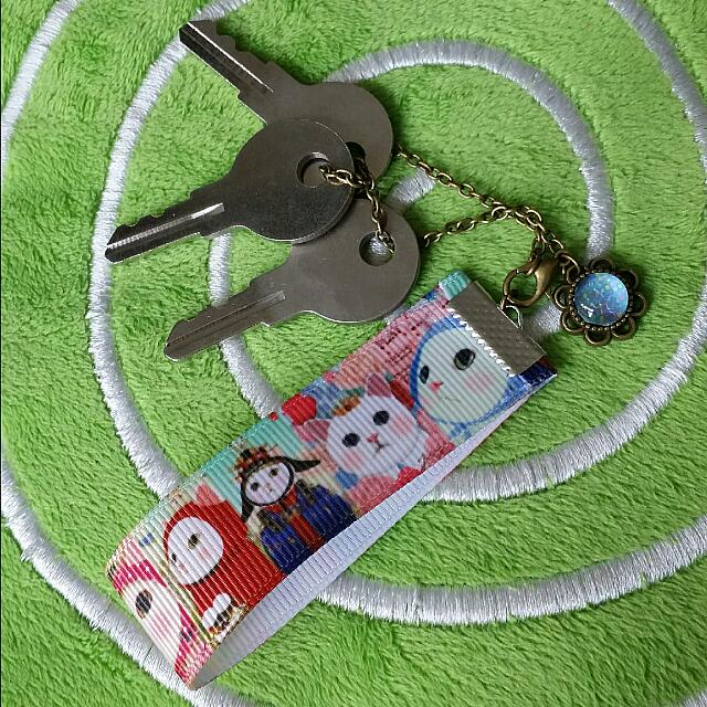 LIKE10! Cat Kitty Key chain / Pouch Zip Chain / Phone Chain / Pencil Case Chain / Monopod Stick Hanger