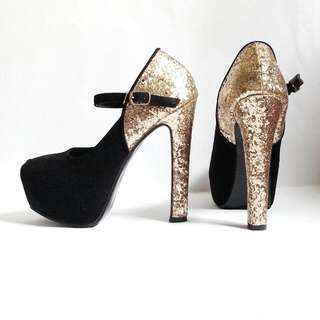 Brand New Miu Miu-Inspired Glitter Mary Jane Pumps Size 39