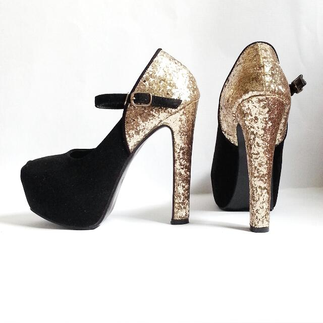Brand New Miu Miu-Inspired Glitter Mary Jane Pumps Size 39