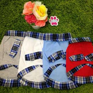 Checkered Collar Shirt For Dog Apparels