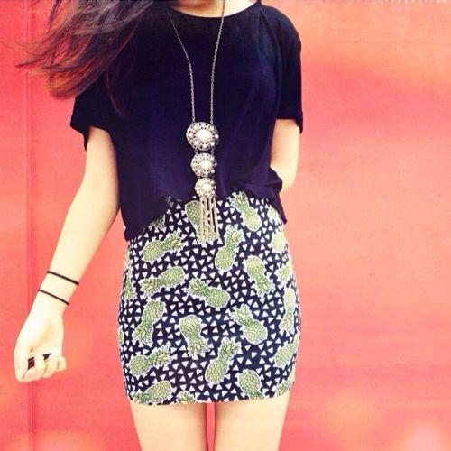 H&M Pineapple Skirt