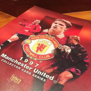 Vintage Manchester United Collector card File