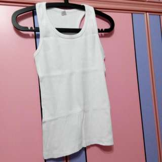 Brand New White Colour Crossback Muscle Cotton Halter Neck Tee Shirt Top Not Uniqlo Christmas